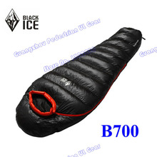Black Ice B-700 Professional outdoor White Duck Down winter mummy type sleeping bag