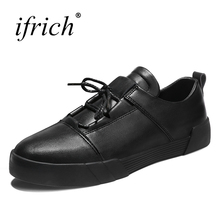 Buy Ifrich New Arrival Casual Shoes Men Comfortable Male Flats Fashion Sneakers Lace Black White Man Casual Footwear for $29.90 in AliExpress store