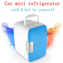 4L Car Mini Fridge Portable 12V Auto Travel Keep Food Warm Refrigerator Quality ABS Multi-Function Home Cooler Freezer Warmer