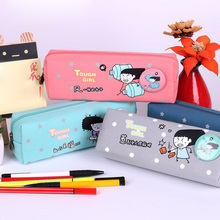 Naughty Cute Canvas Pencil Case Box Pen Storage Bag Purse Pouch School Stationery Kids Gift