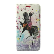 For Samsung galaxy S8plus CASE New Cartoon Horse Beautiful Girl Soft Pink Leather CASE For Samsung galaxy S8plus S8 Back Cover