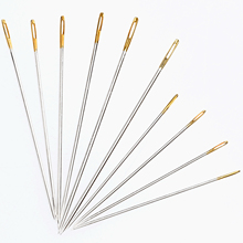 Hot Sale 10Pcs Sewing Needles Leather Tools Handwork DIY Craftwork Hand Stitching Repair Tools Golden Head Stitch Tool Costura