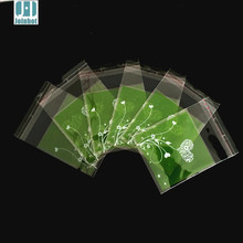Joinhot 100pcs/lot green white heart flower plastic biscuit packaging bags cookies packing cake tools