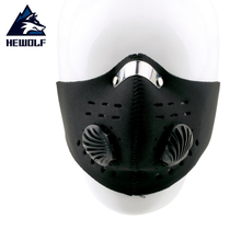 Hewolf Wholesale Anti Dust Cycling Bicycle Bike Half Face Mask Motorcycle Racing Ski Mask with Filter Free Shipping(China)