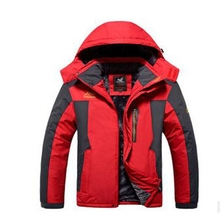 2017 new winter outdoor Male velvet ski-wea jacket coat plus-size mountaineering clothing thickening  velvet male Sports clothes
