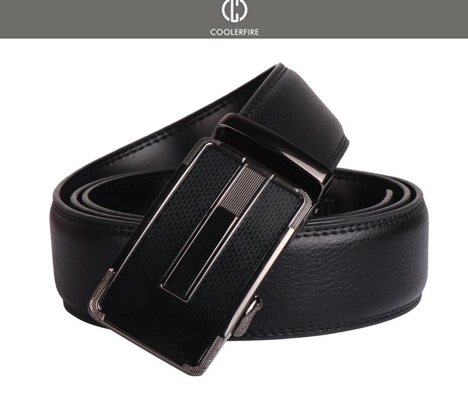 Men/'s Designer Leather Ratchet Belt with Minimalist Plain Automatic Buckle