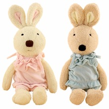 JESONN Dressed Stuffed Bunnies Toys Animals Soft Plush Easter Rabbits for Children's Gifts(China)