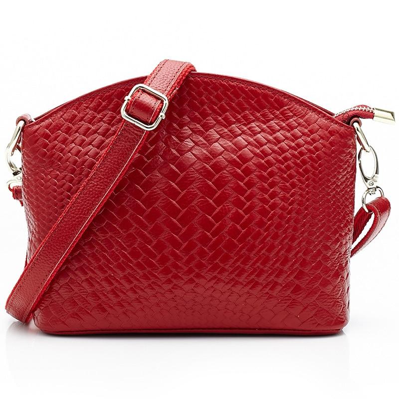 2017 Genuine Leather Shoulder Bag Messenger Bag Woven Pattern Women Crossbody Portable Simple and Practical Suitable Mama Bag<br>