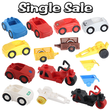 Classic City Large Particle Big Building Blocks DIY Toys Car Jeep Vehicle Carriage Compatible with Duplo Sets Baby Gifts Bricks
