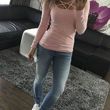 Pullover Corset Female T-shirt oculos Top Solid Tops Pink Summer European Lace Up T Shirt Sexy Hollow Out Casual Basic Plus Size
