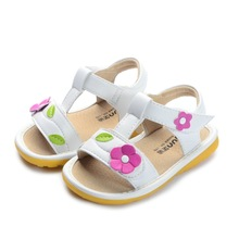 S016 Handmade Children sandals  baby girl summer shoes Princess shoes Leather baby sandals