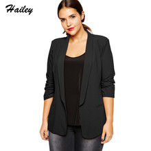 Buy Women 2018 Fashion Blazers Plus Size Solid Black Red Office Lady Women Notched Slim Blazers Large Size Female Coats Outwears for $30.58 in AliExpress store