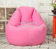 Cover only No Filler- Pink sofa bean bag seat, outdoor beanbag furniture chair - high back support lazy chairs