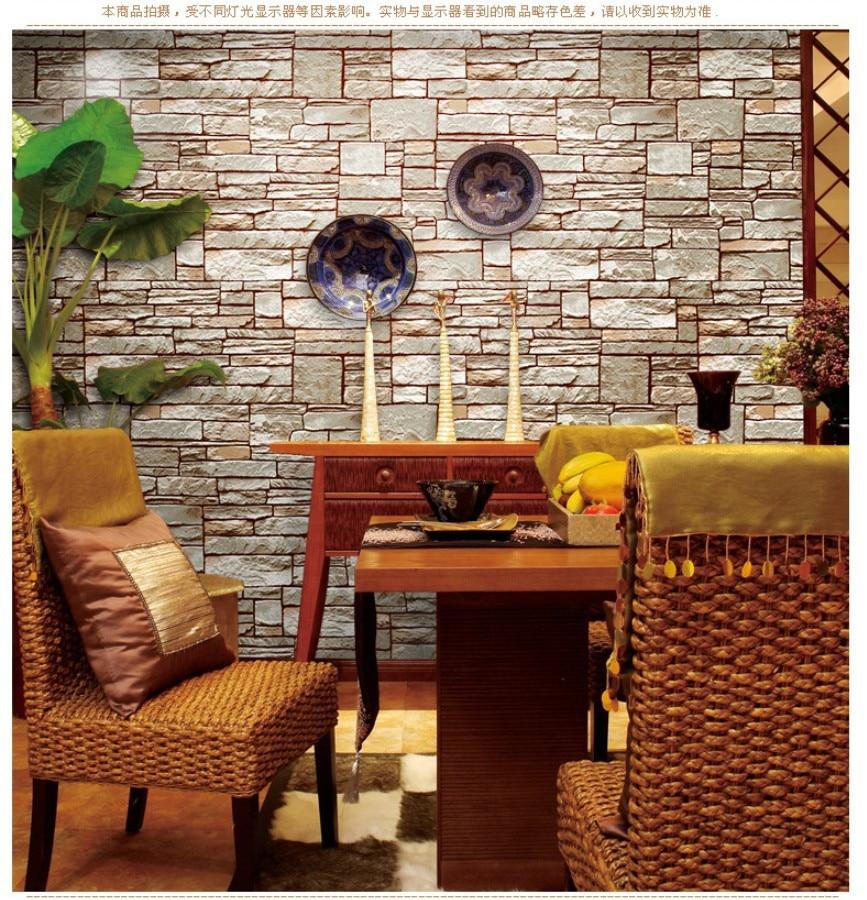 Chinese Imitation Brick Retro Brick Pattern Wallpaper Gray Brick Wallpaper Brick Wall Vinyl Wallpapers Papel De Parede Roll<br>