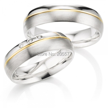 custom size His and Hers wedding bands western style titanium engagement wedding rings set(China)