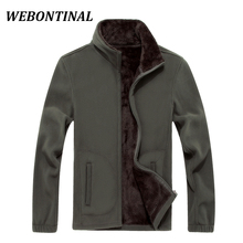 WEBONTINAL 2017 Autumn Winter Male Jackets For Men Coat Outerwear Thick Warm Velvet Casual Brand Clothing Fleece Big Size XL-8XL