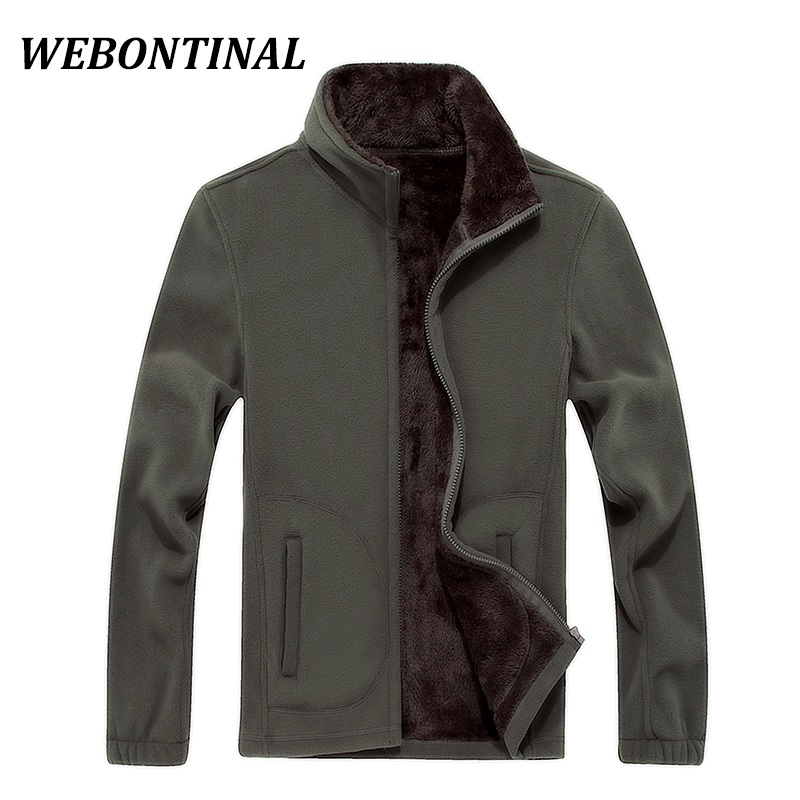 WEBONTINAL 2017 Autumn Winter Male Jackets For Men Coat Outerwear Thick Warm Velvet Casual Brand Clothing Fleece Big Size XL-8XL(China)