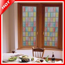 Brand New High Quality Hot 45x100cm Grid Privacy Window Film Decorative Stained Glass Window Film Stained Glass Film Sticker(China)