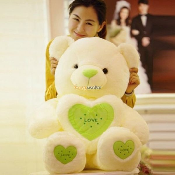 Fancytrader 47 / 120cm Cute Soft Stuffed Giant Heart Teddy Bear Toy, 3 Colors Available! Nice Gift, Free Shipping FT50110<br><br>Aliexpress
