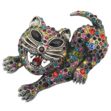 Large Brooches Tiger Brooch Love Exaggerate Rhinestone Animal Coat Clothes Safety Pin Metal Broach Broch Pines Metalicos Brosche