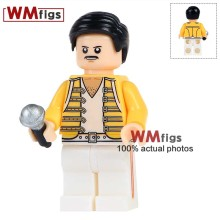 Single Sale WM443 Freddie Mercury Lead Singer Queen Michael Jackson Action Figures Building Blocks Bricks Children Gift(China)