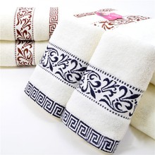 34*76cm 3pcs Embroidered Cotton Terry Hand Towels Set,Home Decorative Cheap Quality Face Bathroom Hand Towels Set