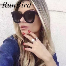 2017 Fashion Sunglasses Women Luxury Brand Designer Vintage Sun glasses Female Rivet Shades Big Frame Style Eyewear UV400 739R - runbird eyewears Store store