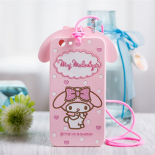 For OPPO Find 7 A59 A53 A33 A517 A31T Phone Cases 3D Cute Cartoon My Melody Bow Silicone Case Cover With Strap Fundas Coque Capa