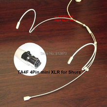 HM-4021-X4 Dual Ear Hook Headset Head Microphone for Sh.ure Wireless Mic System Bodypack with TA4F Mini 4Pin XLR Connector(China)
