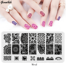 SBC-Nail Stamping Plates Stainless Steel Stencils for Nails Art Stamp Templates for Gel Nail Polish