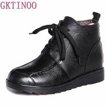 Buy Fashion Winter Women Boots Female Lace Ankle Boots Wool Warm Snow Boots Ladies Shoes Woman Botas Mujer Size 35-40 for $32.52 in AliExpress store