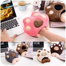 Cute paws warm in winter USB heated mouse pad with wrist, hand warmers heating pad P2619(China)