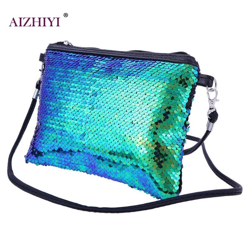 Portable Women Gorgeous Shining Sequins Cosmetic Handbags Clutch Ladies  Evening Party Zipper Makeup Shoulder Bag Features  Sequins 7df2eecc8cb3
