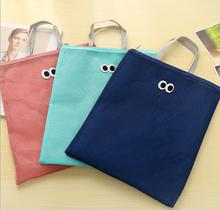Fashion Multi-functional Canvas Shopping Net Bag Make Up/Magazine Storage Bag