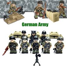 World War II WW2 German Assault Special Force Military Building Block Toys Mini Army Solider Figures Commander with Weapon
