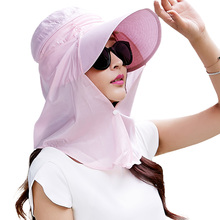 SIGGI  Women Summer Sun Hat Beach Vacation Cap with Detachable Neck Flap Wide Brim Face Mask Cool UPF 50+ UV Protection 69054