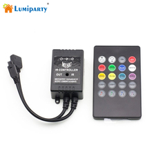 LumipartyDSstyles Infrared Music LED Controller 20 keys IR Remote Controller Sound Sensor Controller For RGB LED Light Strip