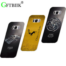 "Cute Cartoon Case For Samsung Galaxy S8 G9500 5.8"" Hard Plastic Case Fashion Printed Football Cover Game of Thrones 7"