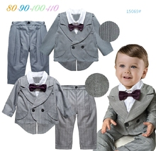 Baby boy birthday dress coat+pants back to school clothes 2pcs spring autumn boys clothing sets toddler wedding party clothes
