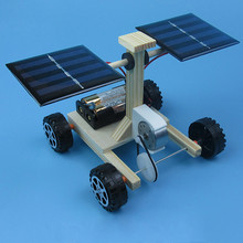 DIY tech small gizmos Space probe solar vehicle Hybrid drive car Physical experiment for primary and secondary Free shipping(China)