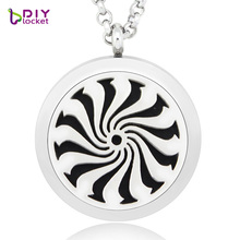 Excellent design 30MM Perfume floating locket DIY pendant aromatic oil necklace fragrance diffuser locket with chain