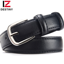 DESTINY famous Designer Belts Women High Quality Luxury Brand PU Leather Black Casual Lady Girls Woman Belt For Jeans Skirt(China)
