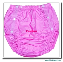 Free shipping FUUBUU2203-Pink-XL-1PCS adult diapers non disposable diaper plastic diaper pants pvc shorts(China)