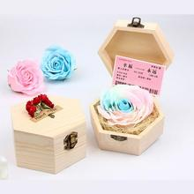 Mothers Day Gift Handmade Soap Flower Eternal Flowers Luminous Colorful Roses Party Gift Soap Rose with Box