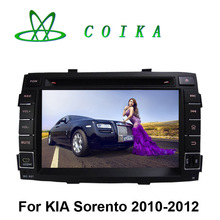 Quad Core Android 5.1 Double Din Car DVD Kia Sortento 2010 2011 Tape Recorder GPS Radio Receiver BT WIFI 3G 1024*600 HD Screen(China)