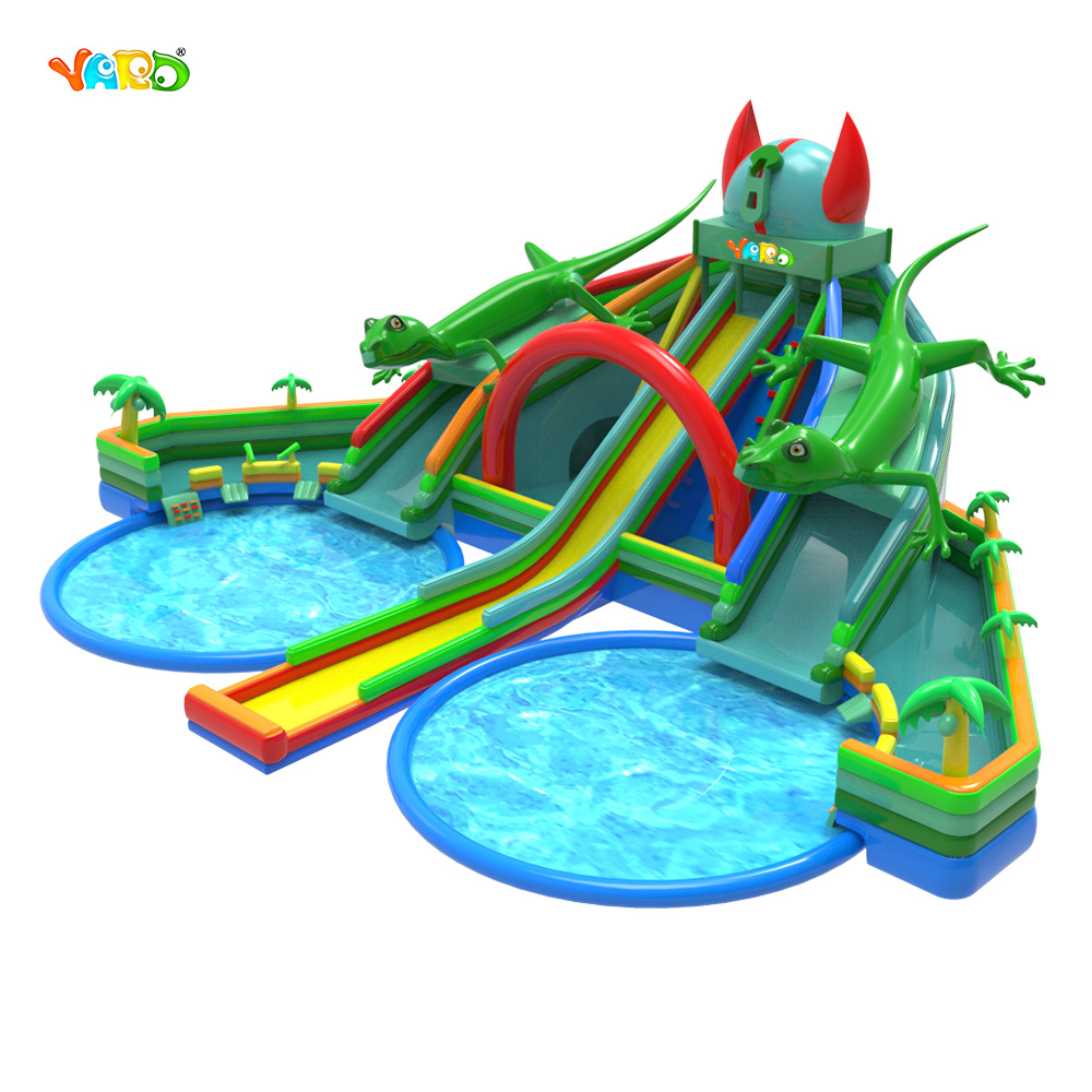 9326 Inflatable Water Slide with Pool 5