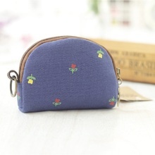 Canvas floral printing coin purses children wallets small pouch kids mini money bags carteiras masculina feminina for girls boys