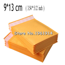 9*13cm (3.54*5.12 inch) 100Pcs Yellow Kraft Bubble Envelope Poly Mailer Padded Envelopes Mailing Bags Bulle Gift Bag For Party