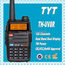 DHL freeship+TYT TH-UV8R 136-174/400-520 cheap dualband vhf uhf radio hunting radio waterproof walky talky With 1600mAh Battery(China)