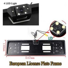 Import Chips European Car License Plate Frame Camera Car Camera Night Vision Waterproof With LED Night Vision(China)